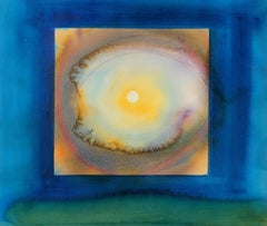 Abstracted Sun Through Clouds in Watercolor, Late 20th Century