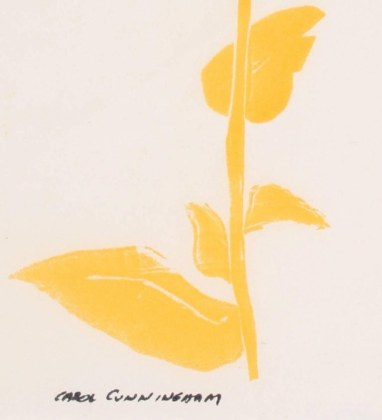Yellow Daisy, Serigraph on Paper, Circa 1960's - Print by Carol Cunningham
