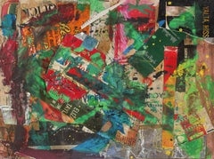 Expressionist Mixed Media Collage, Circa 1960's
