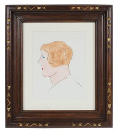 Profile of A Woman, Marker Drawing, 1970's