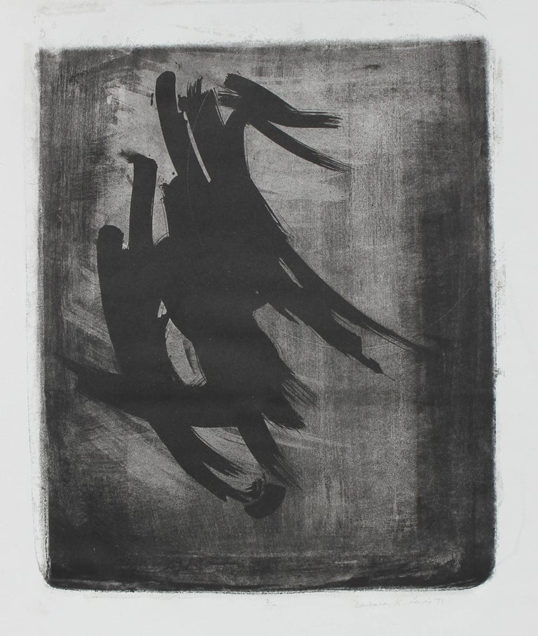 Monochromatic Abstract, Lithograph on Paper, 1971