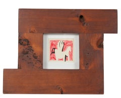 Small Abstract in Red, Felt Marker on Paper, 20th Century