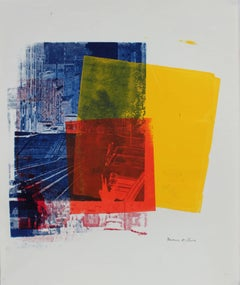 Pop Art Screen Print in Primary Colors, Circa 1970