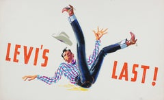 "Calvin Anderson - ""Levi's Last"" Mid Century Advertising Illustration in Gouache"
