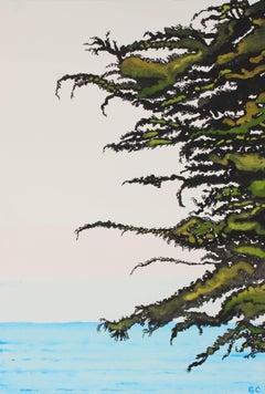 """""""Pacific Cypress Sunrise"""" Sea Ranch, California Landscape, 2016"""