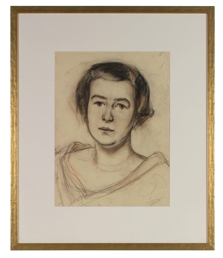 Portrait of a Woman in Charcoal, Circa 1926