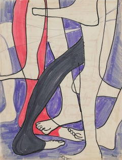 Legs and Feet, Ink on Paper Drawing, Circa 1960s
