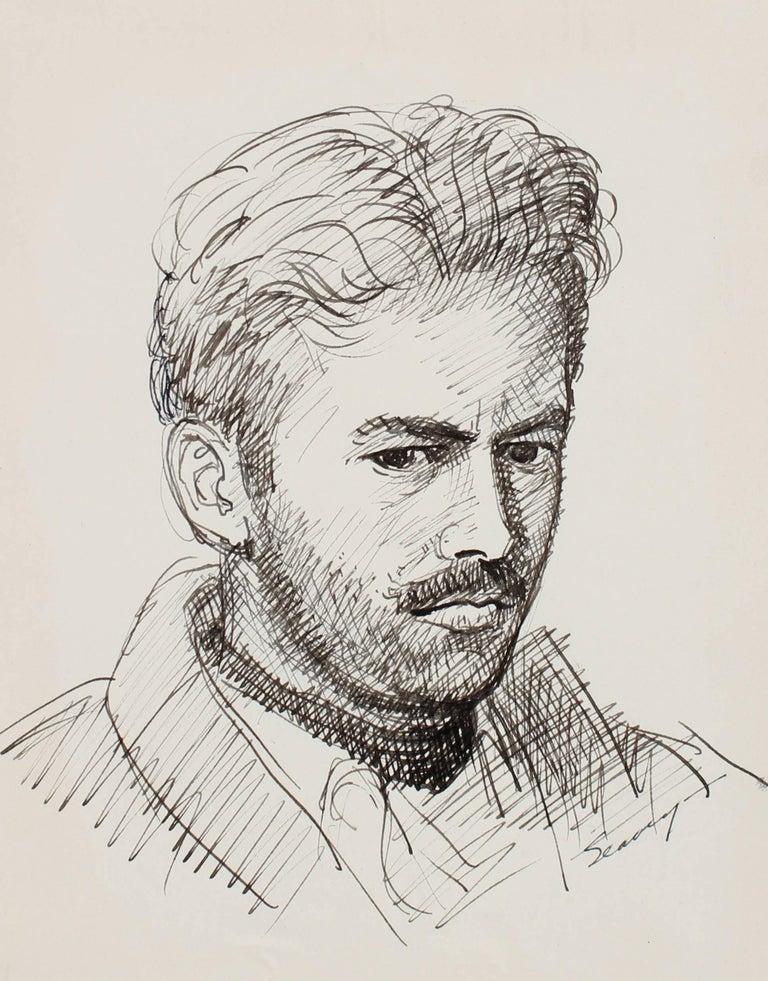 Artist Self-Portrait in Ink