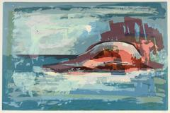 1960s Southern California Abstracted Seascape
