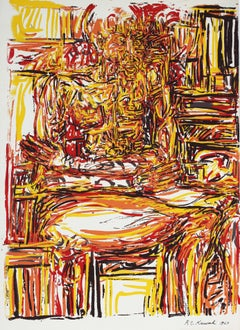 Abstracted Seated Portrait Serigraph, 1969