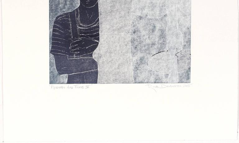 """Noguchi and Forms IV"" Monoprint - Print by Rob Delamater"