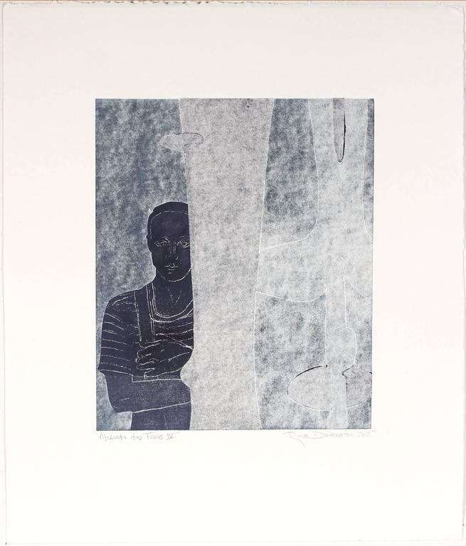 """Noguchi and Forms IV"" Monoprint - Contemporary Print by Rob Delamater"