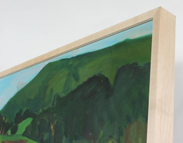 Hillside with Farmhouse - Painting by Hearne Pardee/ Gina Werfel