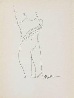 Monochromatic Figure in Ink, 1989