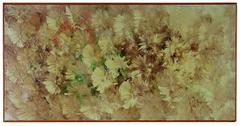 """September Gardens"", Floral Abstract in Oil, 1960s"
