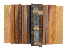 """In a Grove"" Mixed Media Abstract with Wood, 2006"