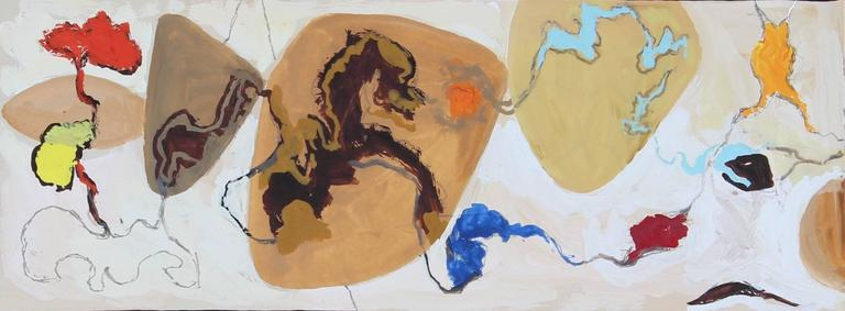 Martin Snipper Abstract Drawing - Mid Century Abstract Study For a Mural, Gouache Painting