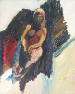 Bay Area Figurative Portrait in Oil, Circa 1958