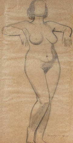 Standing Figure in Graphite, Circa 1930s