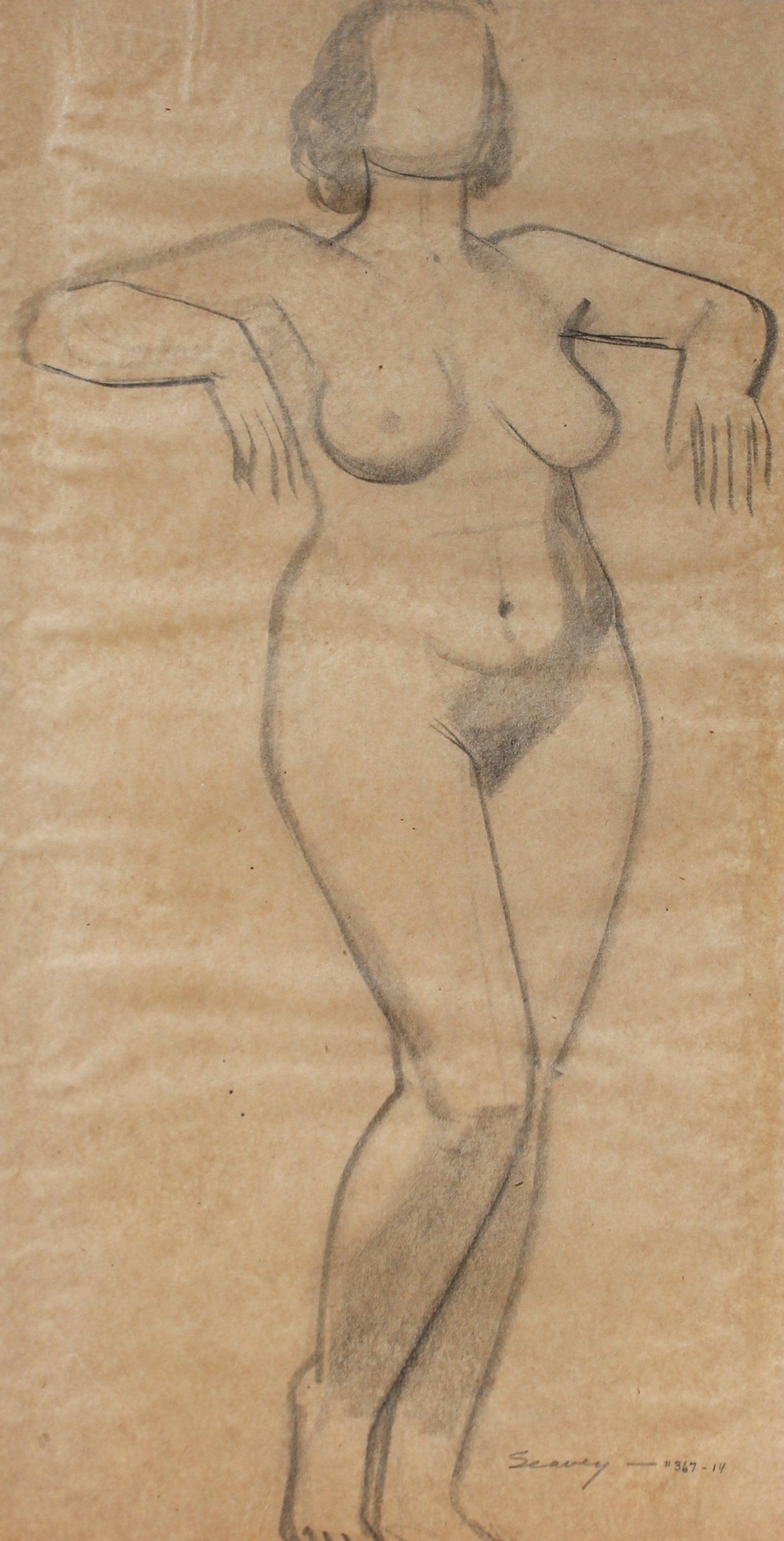 Standing Figure in Graphite, Circa 1930s
