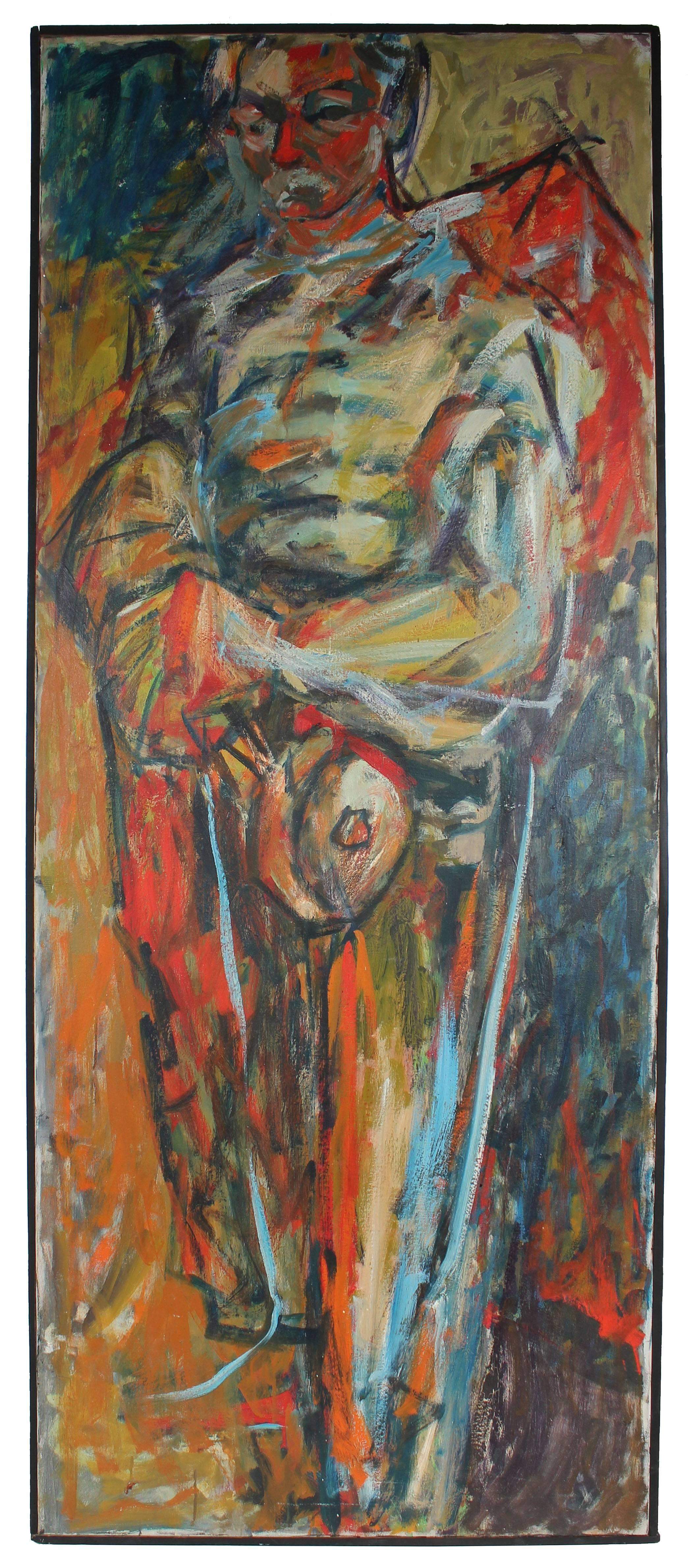 Portrait of Kenneth Washburn, Oil on Canvas, 1957