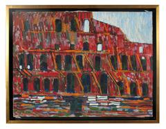 """The Colosseum, Rome"" Italian Oil on Canvas, 1971"