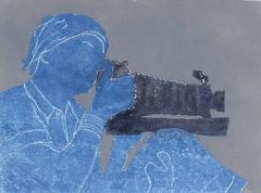 """Dorothea Lange with Camera"""