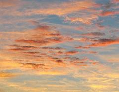 """Celestial"" Mendocino, California Sunset Landscape, FramedColor Photograph, 2016"