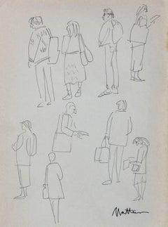 Figure Studies in Graphite
