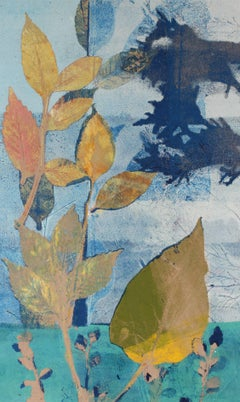 """May"", Mixed Media Nature Print with Foliage, Circa 1971"