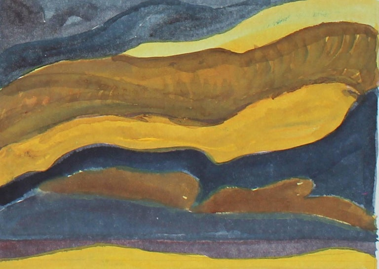 """With Homage to Arthur Dove"" Gouache Painting, 1980"