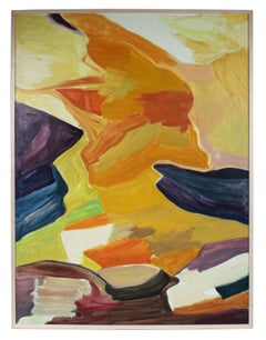 """""""Landscape"""" Large Abstract Oil Painting, 1986"""