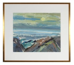 """Monhegan Morning"" Landscape in Acrylic Paint, Circa 1960s"