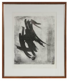 """Tracer"" Monochromatic Abstract Lithograph, 1968"