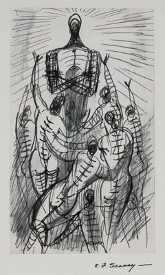 Modernist Figures in Ink, 1952