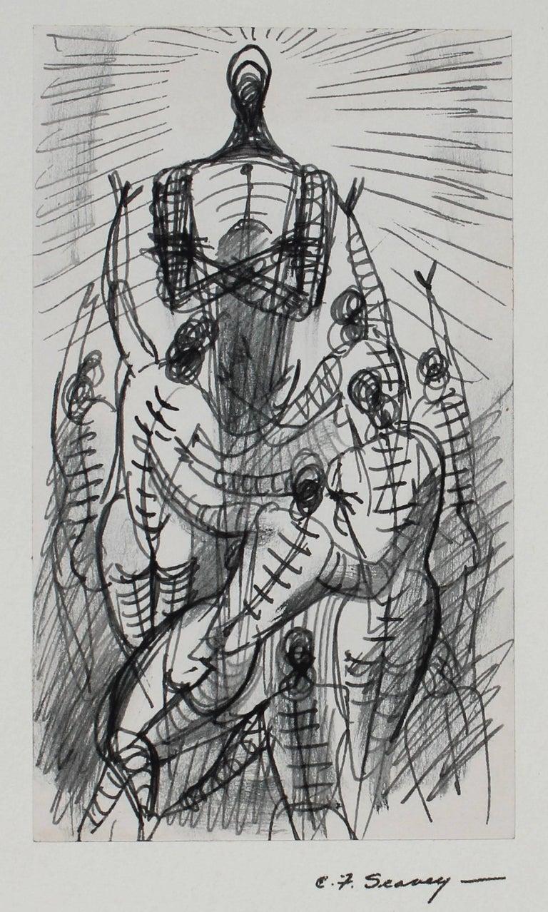Modernist Figures in Ink, 1952