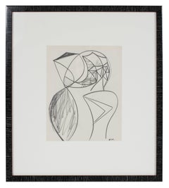 Monochromatic Surrealist Sketch in Graphite, 20th Century