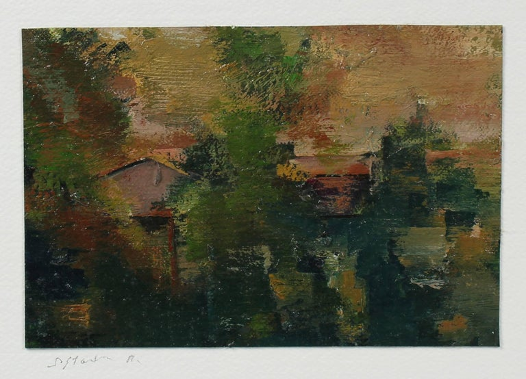 Abstracted Los Angeles Landscape in Oil, 20th Century - Painting by Schuyler Standish
