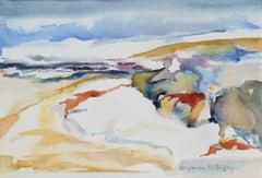 """Sand Dunes, Sonoma County, CA"" Watercolor Landscape, Late 20th Century"