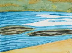"""Mendocino Lake III"" Ukiah, California Watercolor Landscape, 2016"