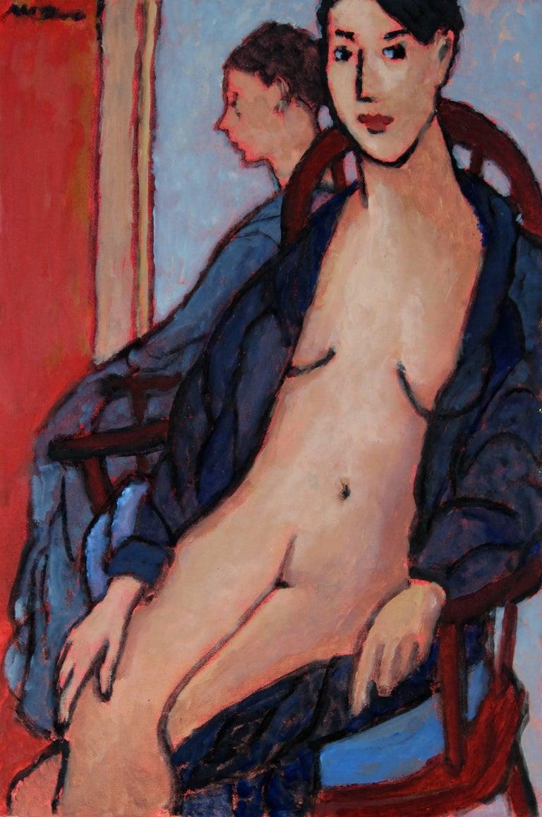 """""""Survivor"""" Seated Figure Painting, Oil on Canvas, 2009"""