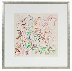 Colorful Abstraction in Watercolor, 1963