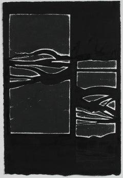 """Composite Landscape III"" Monochromatic Abstract Monotype, 2018"