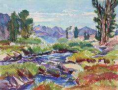 Mountain Landscape in Watercolor, 1953
