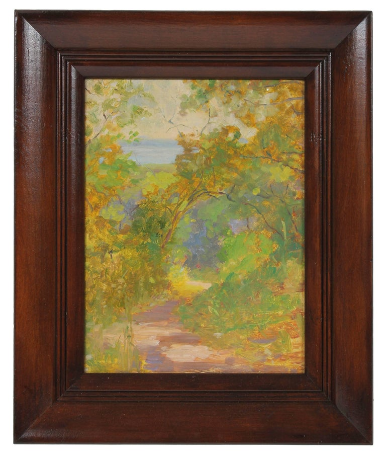 Impressionist Forest Landscape, Oil Painting, Circa 1920s