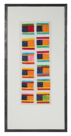 Geometric Abstract with Squares, Circa 1970s