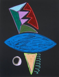 Colorful Abstract in Pastel, Circa Late 20th Century