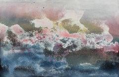 Textured Mixed Media Abstract Painting, Circa 1960s