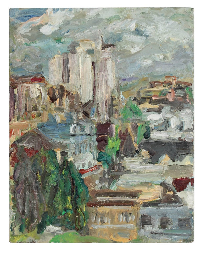 San Francisco Skyline, Oil Painting, 1992