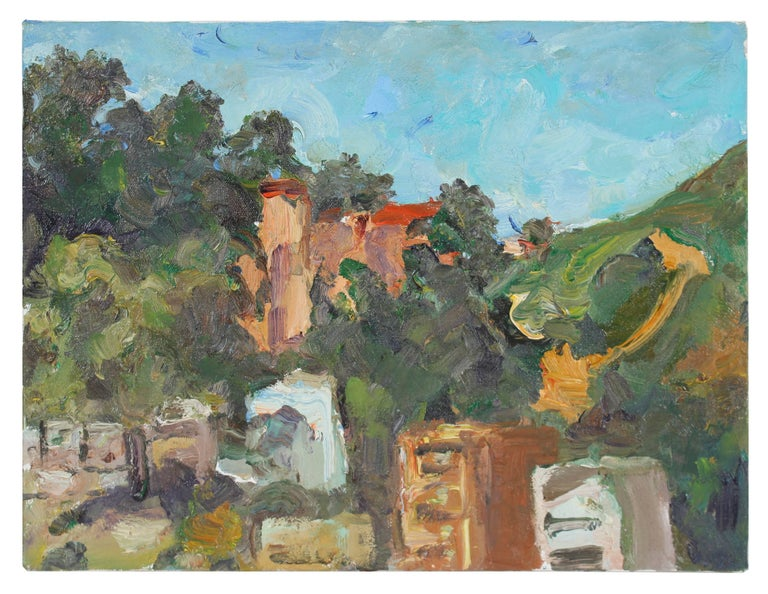 """Randall Museum"" San Francisco Landscape, Oil on Canvas, 2000"